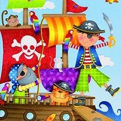 Servilletas para fiesta infantil pirata, 20ud.