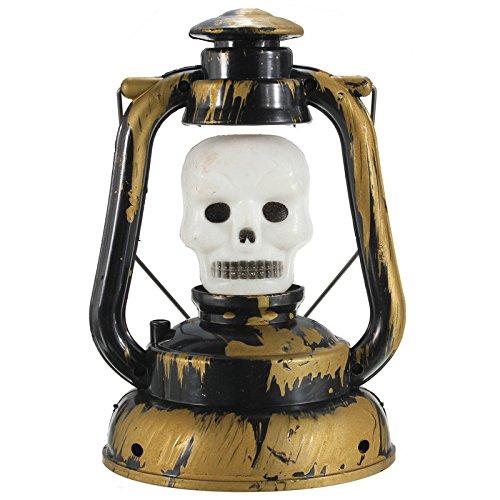 Tutoy Halloween Kürbis Schädel Hexe Laterne Lampe Mit Licht Lachen (Make Gesichts Up Schädels)