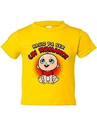 Camiseta niño nacido para ser Romano Nástic Tarragona fútbol