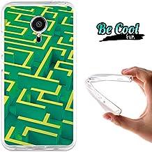 Becool® Fun- Funda Gel Flexible para Meizu MX5, Carcasa TPU fabricada con la mejor Silicona, protege y se adapta a la perfección a tu Smartphone y con nuestro exclusivo diseño. Laberinto verde