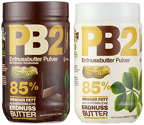 Powder Pack (Bell Plantation PB2 Peanut Butter (Powdered) Mix Pack (Original und Chocolate), 1er Pack (1 x 907 g))