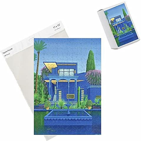 Photo Jigsaw Puzzle of Majorelle Gardens, Marrakech, 1996 (carylic on linen) (see 186509)