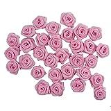 Hand® Baby Rosa kleine hübsche Rose Schleife Formteile für Kleidung, Accessoires und Heimtextilien Verzierung - 17 mm - Packung mit 30