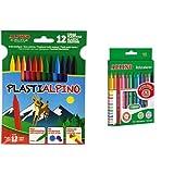Alpino - Pack 12 ceras plásticas de colores Plastialpino +...