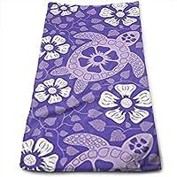 ewtretr Toallas De Mano, Turtles in Purple Microfiber Beach Towel Large & Oversized - 11.8
