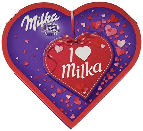 Preisvergleich Produktbild Milka,  I love Milka Geschenkherz klein,  Romantik,  Pralinen,  50g,  6er Pack (6 x 50 g)