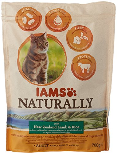 8in1 Iams Naturally Lamb Cat Food Dry Food for Cats with Natural Ingredients Sizes 1