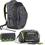 Satch MATCH by Ergobag Phantom 3er Set Schulrucksack + Sporttasche + Schlamperbox