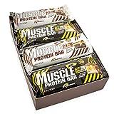 ALL STARS Muscle Protein Bar Mix Box, 12 x 80g mit 34% Protein, mit Karamell und gerösteten Haselnüssen, der perfekte Protein-Snack