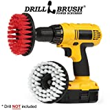 Carpet Cleaner - Drill Brush - Indoor/Outdoor Large Spin Brush Cleaning Kit - Upholstery Cleaner - Leather, Glass - Deck Brush - Grout Cleaner - Hard Water, Calcium, Mineral Deposits, Soap Scum, Rust