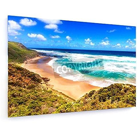 Vista al mar desde Gran camino del océano en Australia - 90x60 cm - weewado - Impresiones sobre lienzo - Muro de