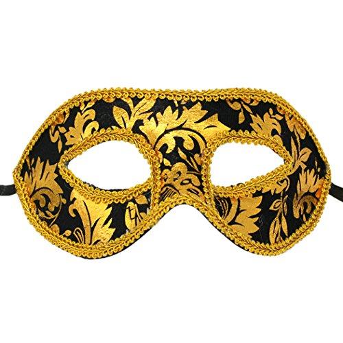 svolle venezianische Augenmaske Masquerade Gold Spitze Halloween Ball Party Kostüm Falsche (Beste Michael Myers Halloween Kostüm)