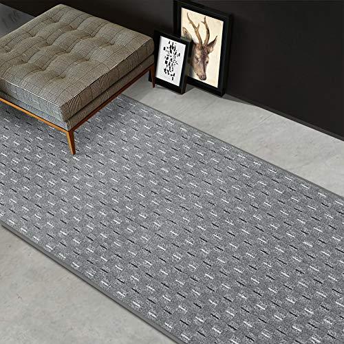 casa pura Teppich Läufer Glasgow | Meterware | Teppichläufer für Wohnzimmer, Flur und Küche | flach gewebt | mit Stufenmatten kombinierbar (Grau - 80x450 cm)