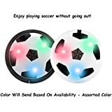 Indoor Football Game Toy Soccer Disc For Kids With Foam Bumper And LED Lights - Multi Color Magic Hover Football Toy Indoor Play Game Best Toy For Kid Product By Dul Dul
