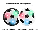 TamBoora ™ New Indoor Outdoor Air Power Soccer Hover Foam Bumpers and Light Up LED Lights -Best Birthday Gift For Baby Boy,Baby Girl
