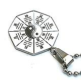 amdxd Jewelry Herren-Anhänger Edelstahl Halskette Vintage Style Silber Acht Diagramm cutd Aperitif