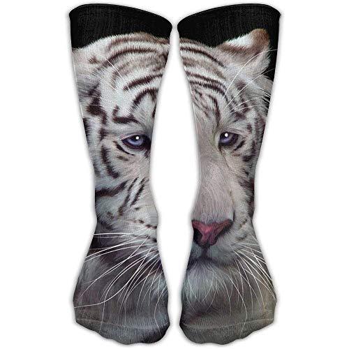 Preisvergleich Produktbild Osmykqe White Tiger Unisex High Compression Socks Soccer Knee Long Stockings Ankle Sport Casual Socks S31
