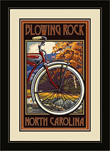 Northwest Art Mall pal-7030fgdm STB Blowing Rock North Carolina Old Hälfte Bike 40,6x 55,9cm gerahmtes Wandbild Künstler Paul A. lanquist, 40,6x 55,9cm