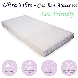 Baby Mattress Cot Crib Anti Allergy Breathable Quilted Fiber All Sizes
