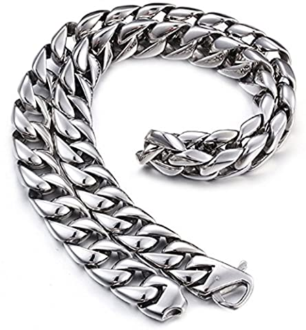 SaySure- Heavy Men's Chain Necklace 24 Inch Long 15MM