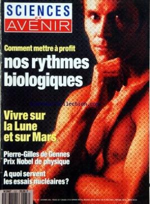 SCIENCES ET AVENIR [No 537] du 01/11/1991 - SOMMAIRE - EDITORIAL - TELEVISION - LA SCIENCE ENFIN - PORTRAIT - FRANCK DAVIDSON - LE VISIONNAIRE DES GRANDS PROJETS - ENQUETE - INFORMATIQUE ET LIBERTES - LA RECHERCHE MEDICALE MISE EN CAUSE - ARMEMENT - A QUOI SERVENT LES ESSAIS NUCLEAIRES - ARCTIQUE - L'ODYSSEE DE L'ASTROLABE - EN COUVERTURE - SE SOIGNER A LA BONNE HEURE - RESTAURATION - LE CINEMA RETROUVE LA MEMOIRE - LE DOSSIER - LA LUNE ET MARS - LES FRONTIERES DE L'UTOPIE - VIVRE SUR LA LUNE - par Collectif