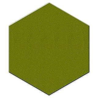 FrankenArt Akustikschaumstoff PolySound Akustik Schaumstoffe aus Basotect® WollFilz Stoff - kaschiert in Hexagon-Form Größe M - Durchmesser Ø30cm - Stärke 3cm - Farbe: 0027 maigrün