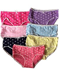 Fille Sous-vêtements, Culottes Mélangés couleurs Lot de 7 (Taille 11-15 Ans) Libre Taille 146-176