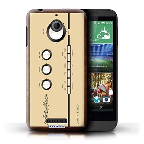 Kobalt® Imprimé Etui / Coque pour HTC Desire 510 / Amp/Amplificateur conception / Série Retro Tech Amp/Amplificateur