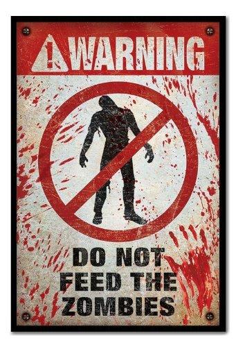 he Zombies Poster Magnettafel, schwarzer Rahmen, 96,5x 66cm (ca. 96,5x 66cm) (Achtung Zombie)