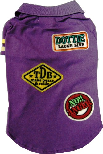 Artikelbild: 100% 900779-09 Three Dog Bakery DOTTIE LAUGH purple cotton polo shirt M (japan import)