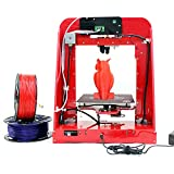 Aibecy TNICE T-23 3D Drucker DIY Kit mit Einzelextruder LCD Display 190 * 190 * 200mm Hohe Genauigkeit 0.4mm Düsendurchmesser mit 5 Rollen Verschiedene Farben 1.75mm PLA Filamente (Gesamt 100m)