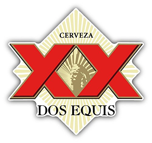 1e6899c76 SkyBug Dos Equis Cerveza XX Red Mexican Beer Bumper Sticker Vinyl Art Decal  for Car Truck