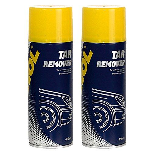 Bug-entferner-spray (2 x 450ml MANNOL 9668 Tar Remover / Teer- Insekten- Entferner Lösungsmittel Spray)