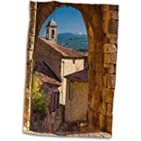 3dRose - Toalla para Puerta de Piedra, Lacoste, MT Ventoux, Provence, Francia