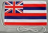 Hawaii USA Bundesstaat 15x25 cm Tischflagge in Profi - Qualität Tischfahne Autoflagge Bootsflagge Motorradflagge Mopedflagge