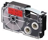 CASIO EZ-Label Printer XR-12RD1 Schriftband selbsthaftend 12 mm x 8,0 m schwarz auf rot