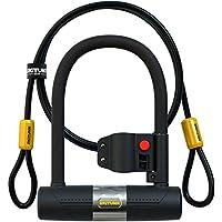 SIGTUNA Bügelschloss – 16mm Fahrradschloss mit Montagehalterung + 1200mm Flex Kabelschloss