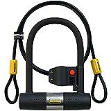SIGTUNA Bike locks – 16mm Heavy Duty Bicycle U Lock with Sturdy Mounting Bracket + 1200mm braided Steel Flex Cable
