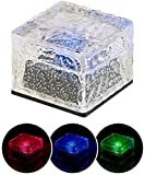 Lunartec Solar-LED-Steine: Solar-RGB-LED-Glasbaustein mit Dämmerungsssensor, 7 x 5,4 x 7 cm, IP44 (Solar-LED-Wegleuchte)