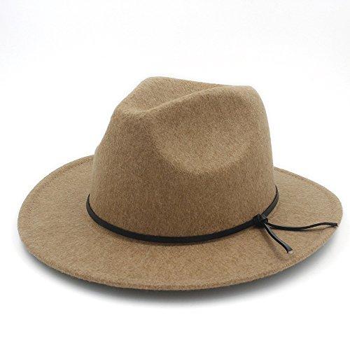 HUILIAN HATS Chapeau à la Mode, Laine Unisexe Chapeu Feminino Fedora Chapeau Hommes pour Laday Hommes Laine Panama Casquette Chapeau Jazz Église Chape