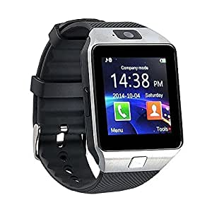 Xolo Q600S COMPATIBLE BLUETOOTH Smart Watch Phone With Camera and Sim Card / Memory Cards Support With Apps like Facebook and WhatsApp Touch Screen Multilanguage All Smart Phones Android & Apple iphone Mobile Phone Wrist Watch Phone with activity trackers and fitness band features by Casreen