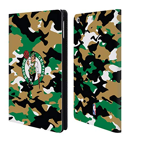 Head Case Designs Offizielle NBA Camouflage 2018/19 Boston Celtics Brieftasche Handyhülle aus Leder für iPad Mini 4 Boston Celtics Mini