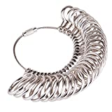 #2: Kuuqa Stainless Iron Ring Sizers Ring Sizer Gauge,Size 1-13,Set of 27 Pieces Circle Models