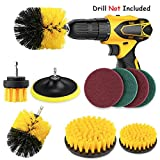Brosse de Nettoyage Perceuse Électrique 9Pcs Drill Brush Power Brosse Perceuse Scrub...