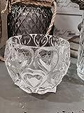 Glas Teelichthalter Kerzenhalter Herzen Hochzeit Tisch Dekoration Set von 3oder 6, glas, Set of 3