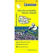 Meuse, Meurthe-et-Moselle, Moselle Michelin Local Map 307 (Michelin Local Maps) by Michelin (2016-04-30)