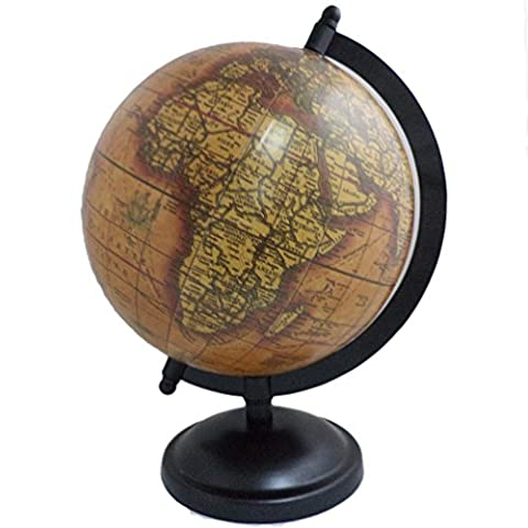 Antique World Earth Globe Big rotatif Ocean Home/Office Décor Support en métal