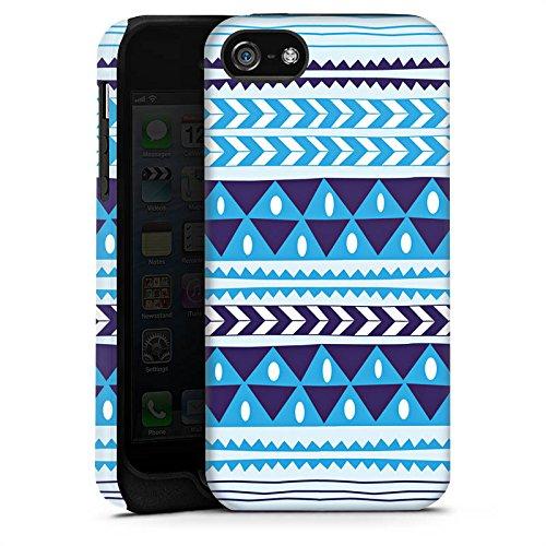 Apple iPhone X Silikon Hülle Case Schutzhülle Dreiecke Blau Muster Tough Case matt