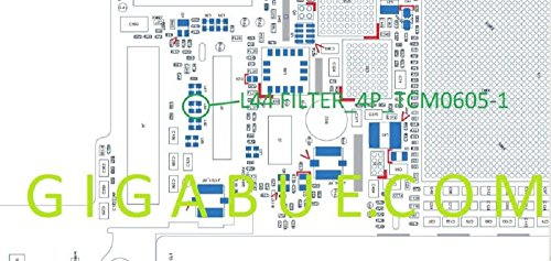 L44Square diplexers Coil Filter Cap IC Chip Filter _ 4P _ tcm0605-1Für iPhone 5 Diplexer Filter