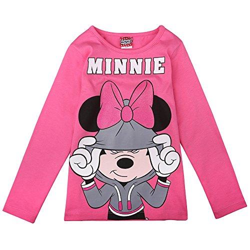 Disney ragazze minnie mouse maglietta, rosa, taglia 116, 6 anni